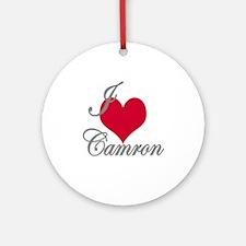 I love (heart) Camron Ornament (Round)