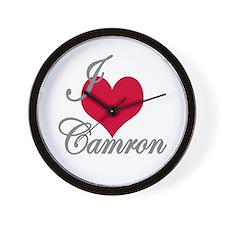 I love (heart) Camron Wall Clock