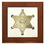 Wind River Police Framed Tile