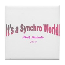 Synchro swimming Tile Coaster