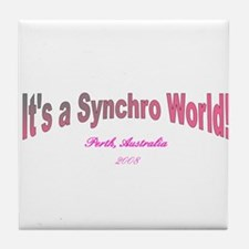 Funny Synchro swimming Tile Coaster