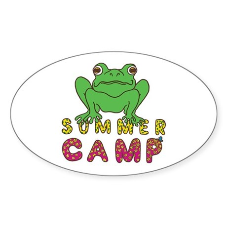 SUMMER CAMP FROG LOOK Sticker (Oval)
