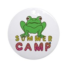 SUMMER CAMP FROG LOOK Ornament (Round)