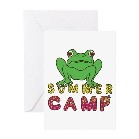 SUMMER CAMP FROG LOOK Greeting Card