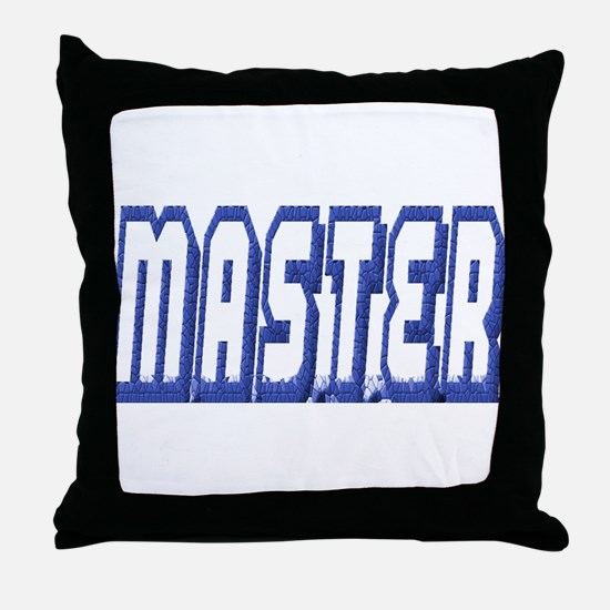 MASTER--BLUE OUTLINE Throw Pillow