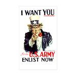 I Want You Rectangle Sticker 50 pk)