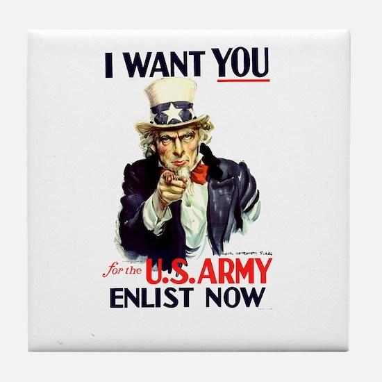 I Want You Tile Coaster
