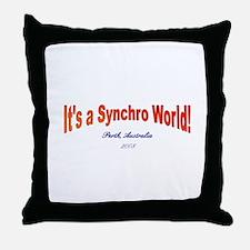 Funny Synchro swimming Throw Pillow