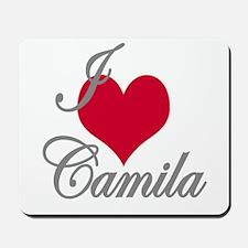 I love (heart) Camila Mousepad