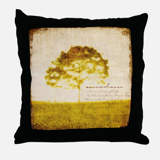 Proverbs 3:18 Throw Pillow