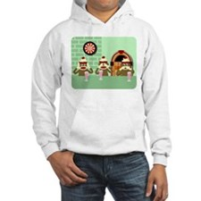 No Evil Sock Monkeys Ice Cream Hoodie