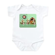No Evil Sock Monkeys Ice Cream Infant Bodysuit