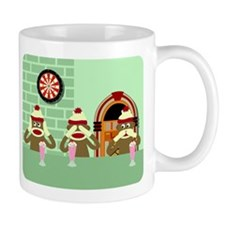 No Evil Sock Monkeys Ice Cream Coffee Mug