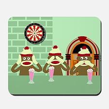 No Evil Sock Monkeys Ice Cream Mousepad