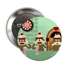 "No Evil Sock Monkeys Ice Cream 2.25"" Button"