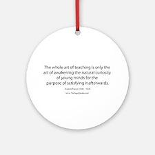 Art of Teaching Ornament (Round)