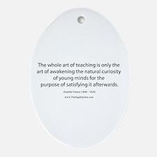 Art of Teaching Oval Ornament