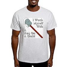 I Wash Myself With A Rag On A T-Shirt