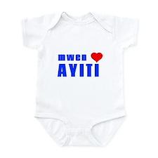 Unique Haiti map Infant Bodysuit