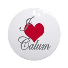 I love (heart) Calum Ornament (Round)
