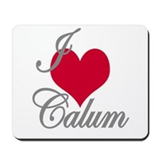 I love (heart) Calum Mousepad