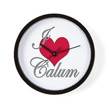 I love (heart) Calum Wall Clock