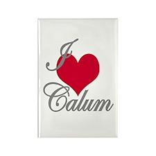 I love (heart) Calum Rectangle Magnet