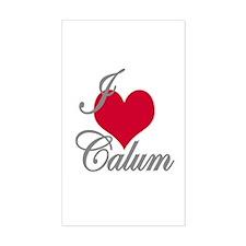 I love (heart) Calum Rectangle Decal