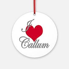 I love (heart) Callum Ornament (Round)