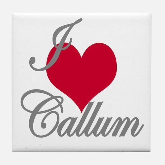 I love (heart) Callum Tile Coaster