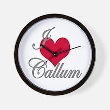 I love (heart) Callum Wall Clock