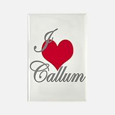 I love (heart) Callum Rectangle Magnet