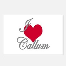 I love (heart) Callum Postcards (Package of 8)