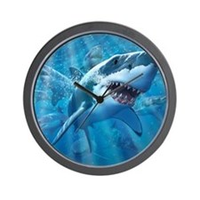 Great White 2 Wall Clock