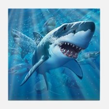 Great White 2 Tile Coaster