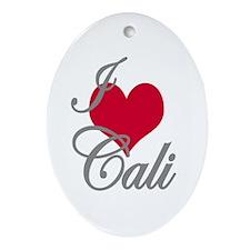 I love (heart) Cali Oval Ornament