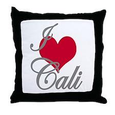 I love (heart) Cali Throw Pillow