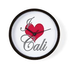 I love (heart) Cali Wall Clock