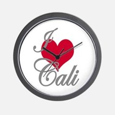 I love (heart) Cali Wall Clock