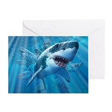 Great White 2 Greeting Card