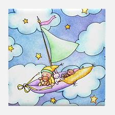 Dream Sailing Baby Tile Coaster