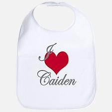 I love (heart) Caiden Bib
