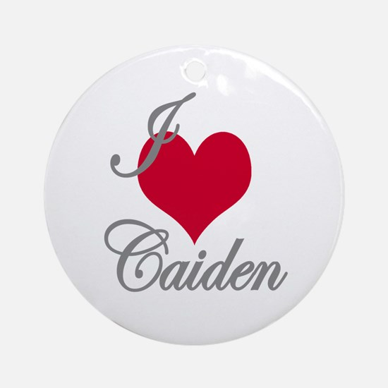 I love (heart) Caiden Ornament (Round)