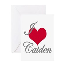 I love (heart) Caiden Greeting Card