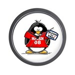 McCain 08 Penguin Wall Clock