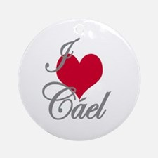 I love (heart) Cael Ornament (Round)