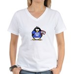 Obama 08 Penguin Women's V-Neck T-Shirt