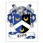 Craig Family Crest Small Poster