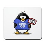 Obama 08 Penguin Mousepad