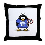 Obama 08 Penguin Throw Pillow